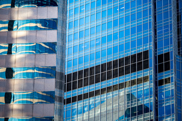 windows of commercial building in Hong Kong