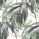 Akwareli ilustracja liść, bezszwowy wzór na białym tle - 138070434