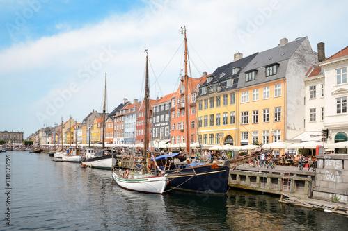 Nyhavn canal, Copenhagen Wallpaper Mural