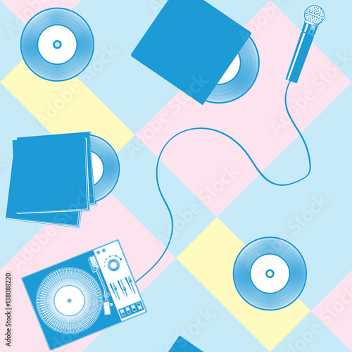 wzor-retro-szablonow-do-karaoke-dyskoteki-imprezy-spiewu