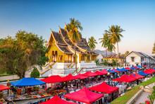 The Night Market In Luang Prab...