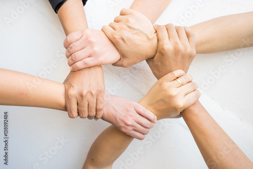 Fototapety, obrazy: Hands were a collaboration concept of teamwork