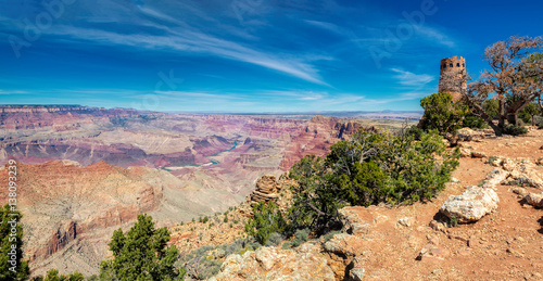 Poster Parc Naturel Beautiful panorama of Grand Canyon from Desert View Point, Arizona.