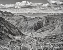 Black And White Aerial Picture...