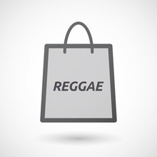 Isolated Shopping Bag With    The Text REGGAE