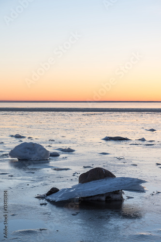In de dag Schildpad Ice formations by the coastline