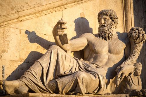 Fotografie, Obraz  Male Sculpture at the Fontana della Dea Roma