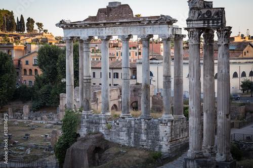 Photo  Roman Forum at Dusk