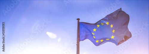 Obraz european flag - fototapety do salonu