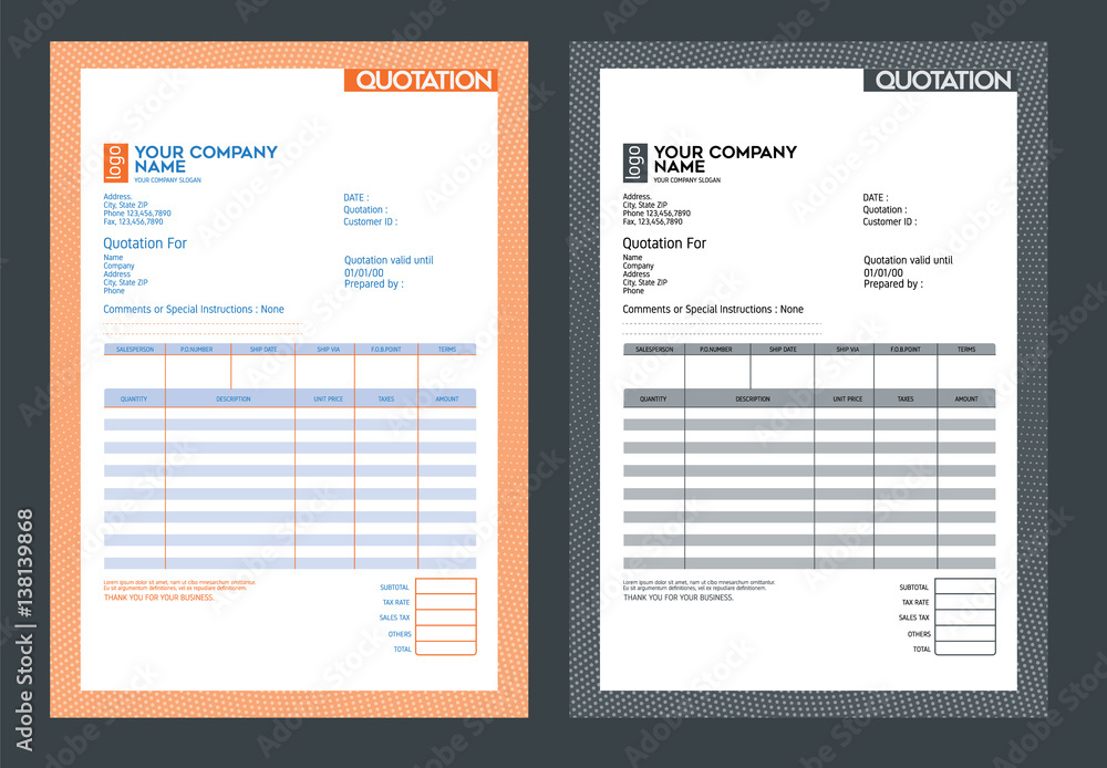 Fototapety, obrazy: Vector quotation design template,