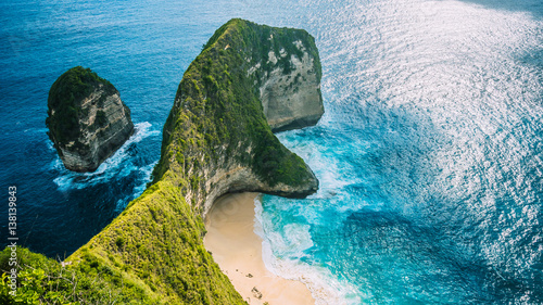 Foto op Canvas Bali Manta Bay or Kelingking Beach on Nusa Penida Island, Bali, Indonesia
