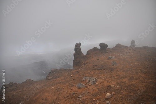 Fotografie, Obraz  Mount Doom (Mount Ngaunuhoe) Walkway at Tongariro Alpine Crossing, Mount Ngaunuh