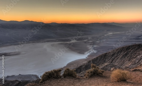 Foto op Aluminium Bomen Right After Sunset, Dante's View, Death Valley National Park