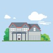 simple flat house vector
