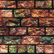 Seamless  Pattern  Of Brick Wall