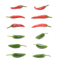 Red And Green Pepper Set