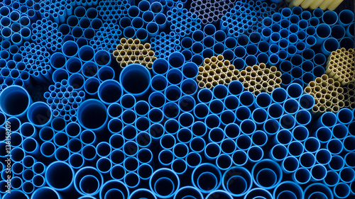 Fotografia  Water pvc pipes background pattern
