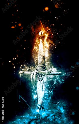 Obraz na płótnie Historical knight sword