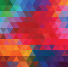 Bright Geometric Background Of...