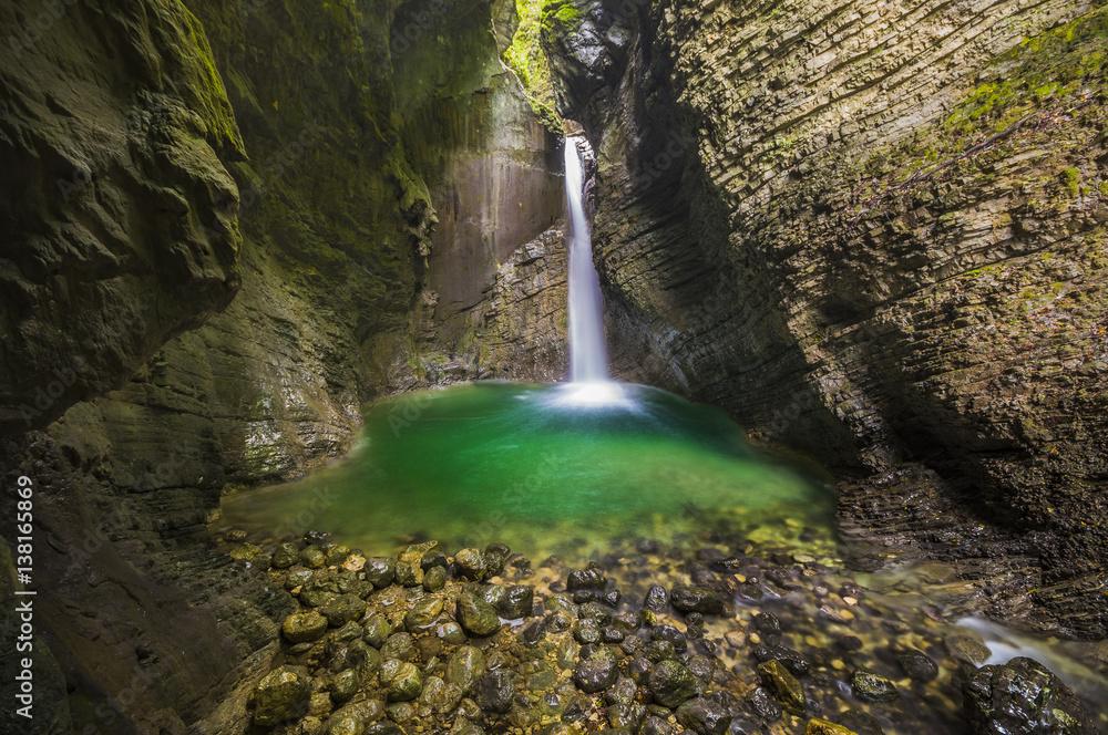 Kozjak waterfall, Triglav national park, Slovenia