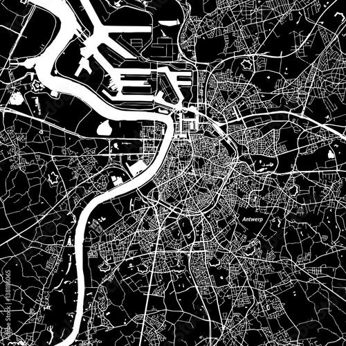 Foto op Plexiglas Antwerpen Antwerp Vector Map