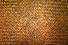 Dark Texture Of Bamboo Handicraft Detail , Pattern Of Thai Style Bamboo Handcraft Texture Background , Vintage Wall