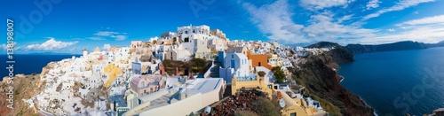 Poster de jardin Europe Méditérranéenne Day view in Santorini. Panorama, Oia Village, Greece