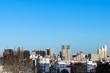 冬の東京 青空とビル群