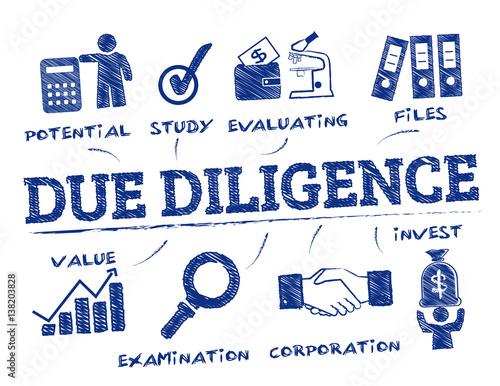 Obraz na plátně  Due Diligence concept doodle