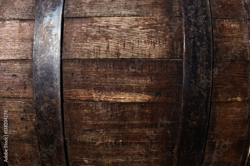Beer barrel texture - oak wooden pattern Wallpaper Mural