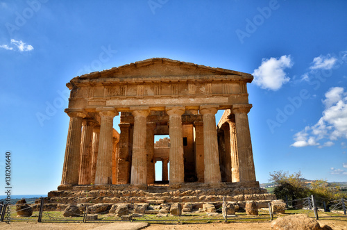 Spoed Foto op Canvas Bedehuis Temple of Concordia. Valley of the Temples in Agrigento on Sicily, Italy