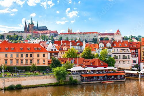 Photo  View from Charles Bridge. Prague. Czech Republic