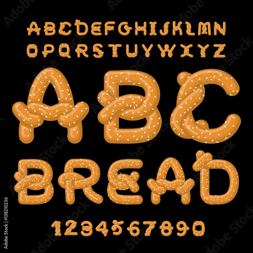 Bread ABC Fototapeta