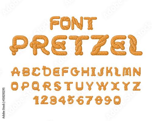Fotografia Pretzel font