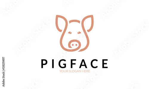 Fotografie, Obraz  Pig Face Logo