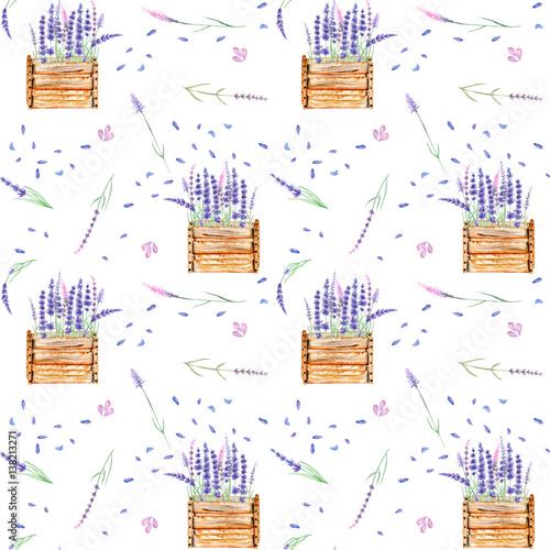 bezszwowy-wzor-z-lawendowymi-kwiatami-w-drewnianych-pudelkach-odosobniona-reka-rysujaca-w-akwareli-na-bialym-tle