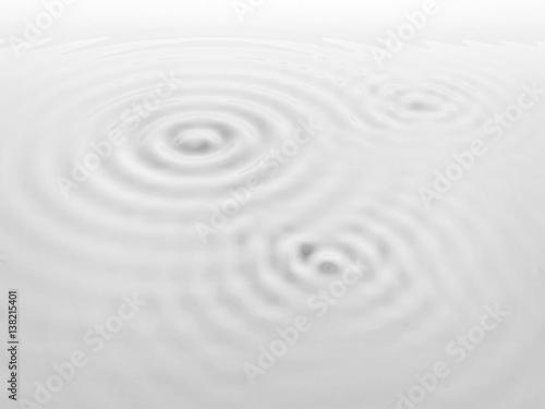 Foto op Plexiglas Stenen in het Zand Ripples on a white liquid surface.