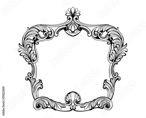 Mirror frame vector Illustration Imperial Baroque Mirror Frame Vector French Luxury Rich Intricate Ornaments And Crystals Victorian Royal Style Decor Adobe Stock Imperial Baroque Mirror Frame Vector French Luxury Rich Intricate