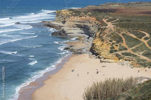 Poster Kaki sand beach aerial view