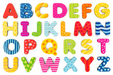 Colorful Wood Alphabet Letters...