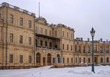 Gatchina Palace. Entrance to the right wing. Russia.