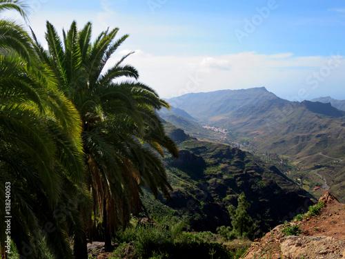 Printed kitchen splashbacks Canary Islands Blick vom Mirador el Mulato ins obere Mogan-Tal