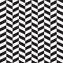 Herringbone, Zigzag, Chevron. Black And White Seamless Vector Pattern