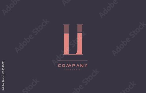 Photo li l i pink vintage retro letter company logo icon design