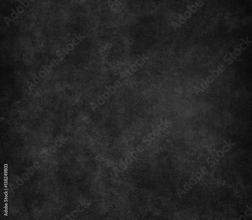 Fototapety, obrazy: Black scratched grunge stucco wall background or texture