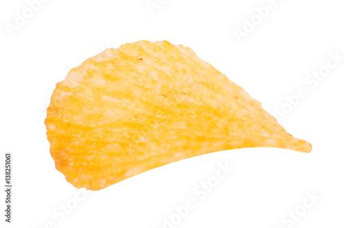 Fotografia, Obraz  Potato chips on a white background