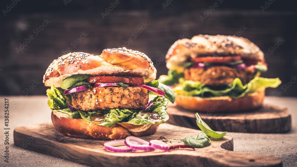 Fototapety, obrazy: Healthy Vegan Burger