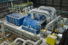 The Turbine And Generator Coal-fired Power Plant.