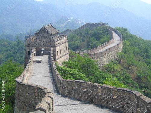 Tuinposter Chinese Muur Grande Muraille de Chine, Mutianyu