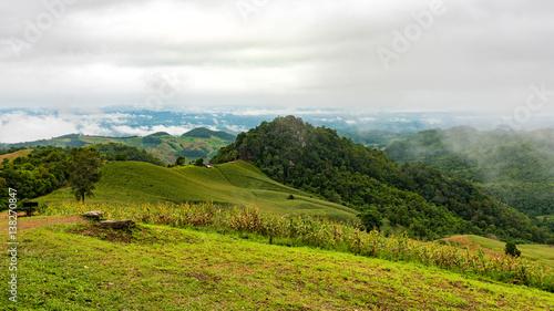 Keuken foto achterwand Olijf Landscape of National Park in Nan province, Thailand